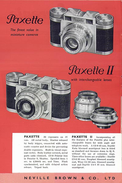 Paxette and Paxette II