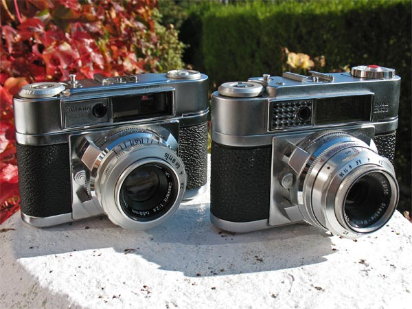 Braun Paxette Super IIL and IIBL  35mm rangefinder cameras